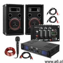 """Electronic-Star Zestaw DJ PA """"DJ-14"""" BT wzmacniacz PA mikser BT 2 x głośnik mikrofon karaoke - ogłoszenia A6.pl"""