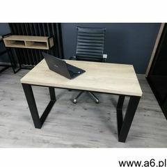 Nowoczesne biurko na metalowej podstawie BONO 120/60 Dąb Brunico, BONO_12060_CDB - ogłoszenia A6.pl