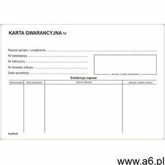 Karta gwarancyjna [Pu/Hd-9] - ogłoszenia A6.pl