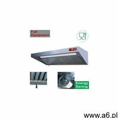 Kompletny okap   (8/9t-2500 m3/h) 120 pa   oświetlenie   regulator 4x filtry   2000x900xh460 marki D - ogłoszenia A6.pl