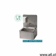 Diamond Umywalka ścienna z dozownikiem do mydła | 500 ml | 400x340x(h)560mm - ogłoszenia A6.pl