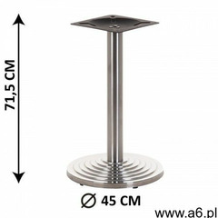 Podstawa stolika SH-2013/S, stal nierdzewna szczotkowana, obciążnik z tworzywa sztucznego, (stelaż s - ogłoszenia A6.pl