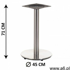 Podstawa stolika sh-2001-1/s, fi 45 cm, stal nierdzewna szczotkowana, obciążnik z tworzywa sztuczneg - ogłoszenia A6.pl