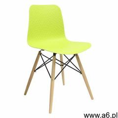 King home Krzesło krado dsw premium zielone - polipropylen, podstawa bukowa - ogłoszenia A6.pl