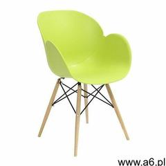 King home Fotel z drewnianymi nogami flower dsw premium zielony - polipropylen, podstawa bukowa (590 - ogłoszenia A6.pl