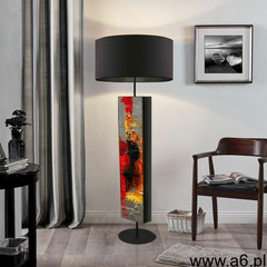 Abstrakcyjna inspiracja - ekskluzywna ręcznie rzeźbiona lampa podłogowa - ogłoszenia A6.pl
