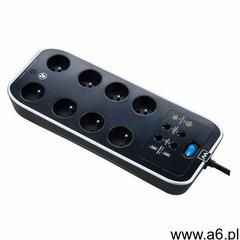 Przedłużacz Masterplug 8 x 16 A 3 x 1,5 mm2 4 x USB 2 m czarny, kolor czarny - ogłoszenia A6.pl