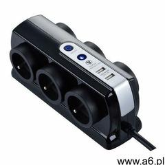 Przedłużacz 6 x 16 a 3 x 1,5 mm2 usb 2 m czarny marki Masterplug - ogłoszenia A6.pl