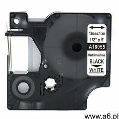 Rurka termokurczliwa DYMO Rhino 18055 12mm x 1.5m ø 3.0mm-5.1mm biała czarny nadruk S0718300 - zamie - ogłoszenia A6.pl