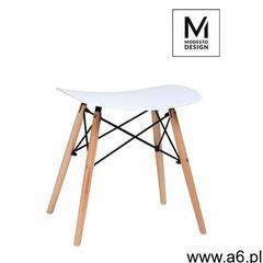 MODESTO stołek BORD biały - polipropylen, podstawa bukowa, M002.WHITE (8717204) - ogłoszenia A6.pl