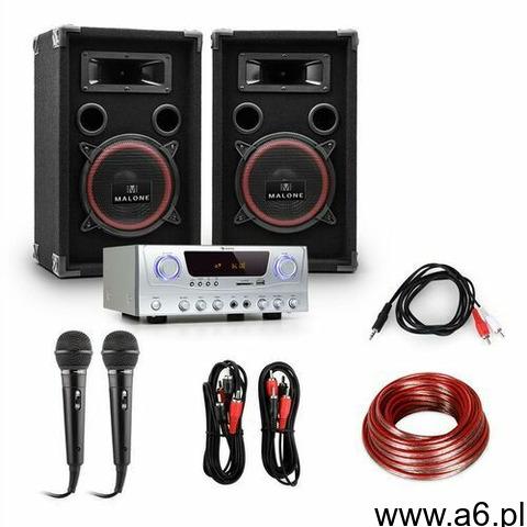 """Electronic-Star PA """"Easy"""" zestaw DJ wzmacniacz kolumny mikrofon 1000W (4260130929503) - 1"""
