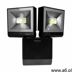 Theben Podwójny reflektor led 2x10w z czujnikiem ruchu ip55 4000k theleda s20 bk th-n 0912 (40034681 - ogłoszenia A6.pl