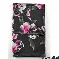 Narzuta z nadrukiem w magnolie bonprix czarny - ogłoszenia A6.pl