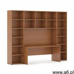 Biblioteka z wbudowanym biurkiem, wysoka, 2950x700/400x2300 mm, czereśnia - ogłoszenia A6.pl