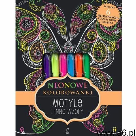 Neonowe kolorowanki Motyle i inne wzory, Wydawnictwo Wilga - 1