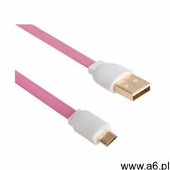 Kabel micro USB ARKAS MBFL-30 3m Różowy (5907747838178) - ogłoszenia A6.pl