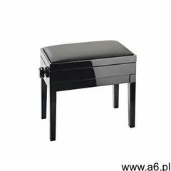 13951-200-21 ława do pianina ze schowkiem, czarny połysk, siedzisko czarne skóropodobne marki K& - ogłoszenia A6.pl