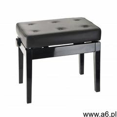K&m 13995-400-21 ława do pianina, czarny połysk, siedzisko czarna skóra - ogłoszenia A6.pl