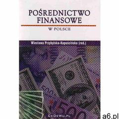 Pośrednictwo finansowe w Polsce - Wiesława Przybylska-Kapuścińska (9788360089781) - ogłoszenia A6.pl