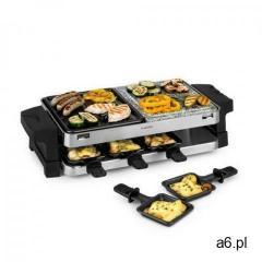 Klarstein sirloin, grill raclette, aluminium/kamień, na 8 osób, lampka kontrolna led, 1500 w (406065 - ogłoszenia A6.pl