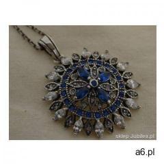 AMBROSIA - srebrny wisior szafiry i kryształy - ogłoszenia A6.pl