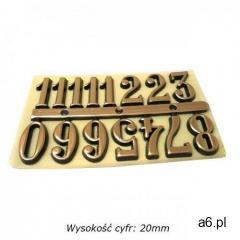 Komplet plastikowych cyfr arabskich 20mm - ogłoszenia A6.pl
