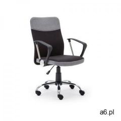 Fotel Topic czarno szary kolor czarno-szary kółka do dywanów - ogłoszenia A6.pl