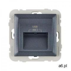 Gniazdo podwójne usb logus 90 grafit marki Efapel - ogłoszenia A6.pl