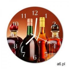 Zegar szklany okrągły Alkohole - ogłoszenia A6.pl