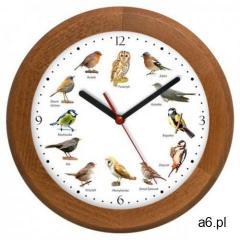 Zegar z głosami ptaków drewniany rondo #2 marki Atrix - ogłoszenia A6.pl