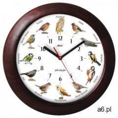 Atrix Duży drewniany zegar z głosami ptaków #2 - ogłoszenia A6.pl