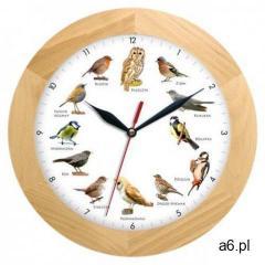 Atrix Zegar z głosami ptaków drewniany solid #2 - ogłoszenia A6.pl
