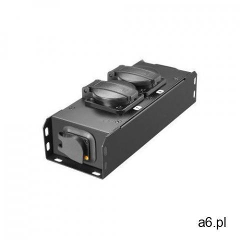 ahproport2t listwa zasilająca 2x230v uni-schuko, złącza przelotowe truecon, obudowa metal marki Adam - 1