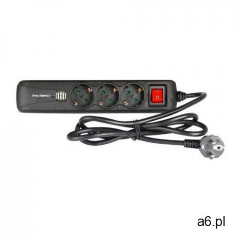 Adam Hall Accessories 8747 S 3 USB - 3-gniazdkowa listwa zasilająca z włącznikiem i 2 gniazdami do ł - 1