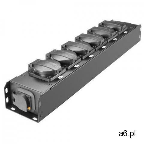 Adam hall ahproport6t listwa zasilająca 6x230v uni-schuko, złącza przelotowe truecon, obudowa metal - 1