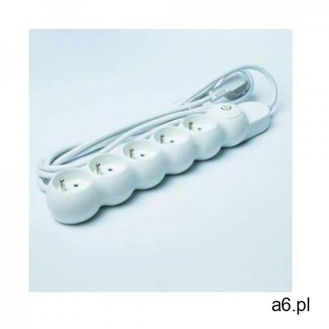 Listwa zasilająca DPM 5gn, 3.0m biała z wyłącznikiem (5906881201978) - 1