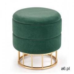 Okrągła pufa ze schowkiem Isla - zielona, V-CH-MINTY-PUFA-C.ZIELONY - ogłoszenia A6.pl