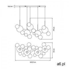 Lampa wisząca CAPRI LINE 5 - LED, szkło, metal - ogłoszenia A6.pl