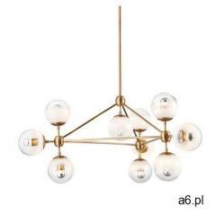 Lampa wisząca PLANETARIO 10 GOLD złota - klosze matowe - ogłoszenia A6.pl