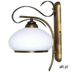 Kinkiet lampa ścienna klasyczna Aldex Patyna VIII 1x60W E27 patyna / biały 493C - ogłoszenia A6.pl