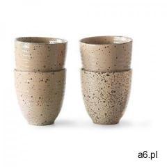 Hkliving zestaw 4 ceramicznych kubków taupe ace6944 - ogłoszenia A6.pl