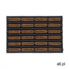 Wycieraczka szczotkowa LAGOS 60 x 40 cm czarno-brązowa - ogłoszenia A6.pl