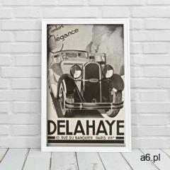 Plakat retro plakat retro delahaye confort elegance marki Vintageposteria.pl - ogłoszenia A6.pl