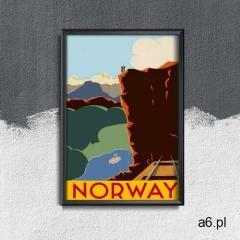 Vintageposteria.pl Plakat vintage plakat vintage norwegia - ogłoszenia A6.pl