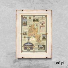 Retro plakat Retro plakat Mapa Oxfordu - ogłoszenia A6.pl