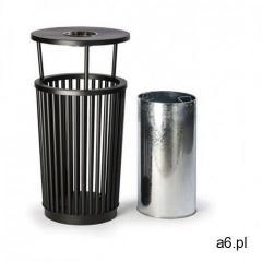 Zewnętrzny kosz na śmieci z popielniczką, 24 l, metalowy - ogłoszenia A6.pl