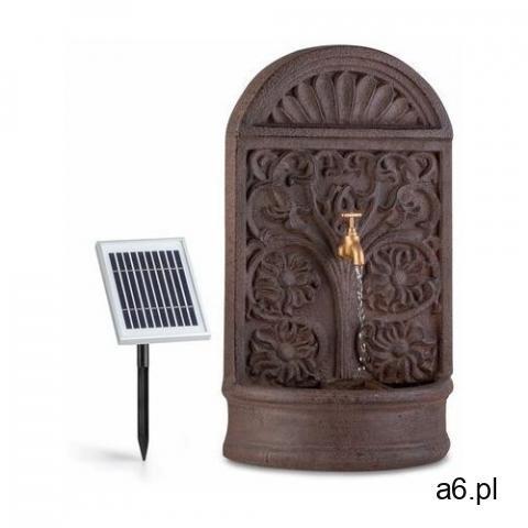 Blumfeldt Blumquell, fontanna solarna, LED, kabel o długości 5 m, kamień sztuczny, panel słoneczny - 1
