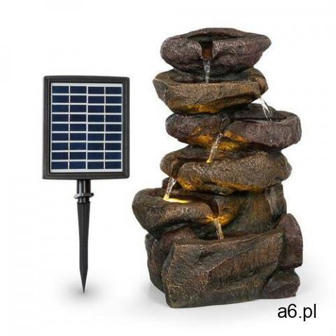 Blumfeldt Savona, fontanna solarna, 2,8 W, tworzywo Polyresin, 5-godzinny czas pracy akumulatora, oś - 1