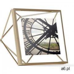 UMBRA ramka na zdjęcia PRISMA 10x10 cm - złota - ogłoszenia A6.pl