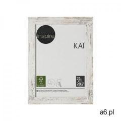 Inspire Ramka na zdjęcia kai 21 x 29.7 cm biała shabby mdf (3276000394617) - ogłoszenia A6.pl